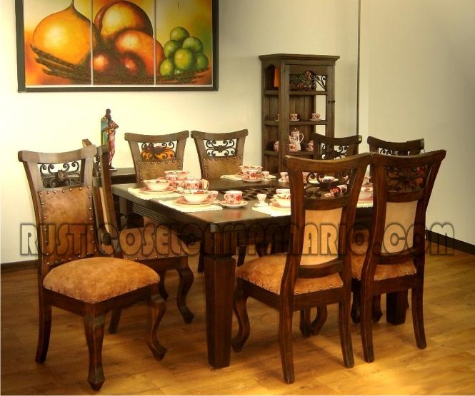 Comedor oriental for Muebles de comedor rusticos